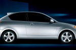 2011 Hyundai Accent Hatchback in Platinum Silver Pearl - Static Side View