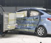2012 Hyundai Accent IIHS Side Impact Crash Test Picture