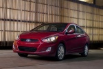 2013 Hyundai Accent GLS Sedan in Boston Red - Static Front Left Three-quarter View