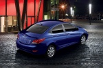 2013 Hyundai Accent GLS Sedan in Marathon Blue - Static Rear Right Three-quarter Top View