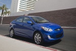 2013 Hyundai Accent GLS Sedan in Marathon Blue - Static Front Right Three-quarter View