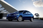 2013 Hyundai Accent GLS Sedan in Marathon Blue - Static Front Left Three-quarter View