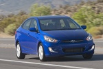 2013 Hyundai Accent GLS Sedan in Marathon Blue - Driving Front Right View