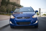 2013 Hyundai Accent GLS Sedan in Marathon Blue - Driving Frontal View