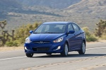 2013 Hyundai Accent GLS Sedan in Marathon Blue - Driving Front Left View