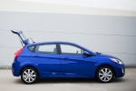 2013 Hyundai Accent Hatchback in Marathon Blue - Static Side View