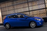 2013 Hyundai Accent Hatchback in Marathon Blue - Static Front Right Three-quarter View