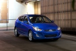 2013 Hyundai Accent Hatchback in Marathon Blue - Static Front Right View
