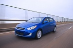 2013 Hyundai Accent Hatchback in Marathon Blue - Driving Front Left View
