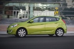 2013 Hyundai Accent Hatchback in Electrolyte Green - Static Side View