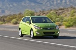 2013 Hyundai Accent Hatchback in Electrolyte Green - Driving Front Right View