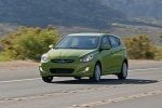 2013 Hyundai Accent Hatchback in Electrolyte Green - Driving Front Left View