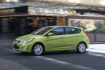 2013 Hyundai Accent Hatchback in Electrolyte Green - Driving Side View