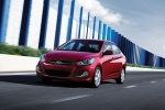 2013 Hyundai Accent GLS Sedan in Boston Red - Driving Front Left View