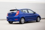 2014 Hyundai Accent Hatchback in Marathon Blue - Static Rear Right Three-quarter View