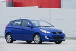 2014 Hyundai Accent Hatchback in Marathon Blue - Static Front Right Three-quarter View