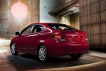 2014 Hyundai Accent GLS Sedan in Boston Red - Static Rear Left Three-quarter View