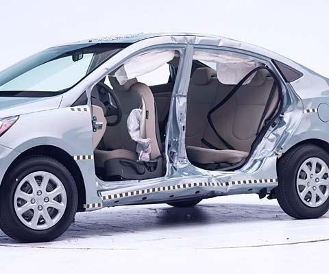 2017 Hyundai Accent Sedan IIHS Side Impact Crash Test Picture