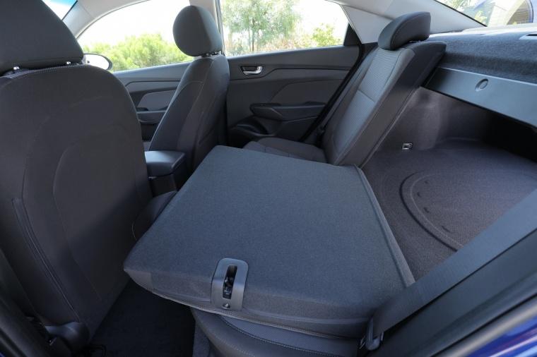 2018 Hyundai Accent Sedan Rear Seats Folded Picture