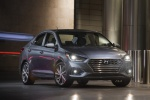 2018 Hyundai Accent Sedan in Urban Gray - Static Front Right View