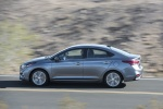 2018 Hyundai Accent Sedan in Urban Gray - Driving Left Side View