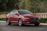2018 Hyundai Accent Sedan in Pomegranate Red - Static Front Right View