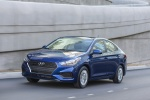 2018 Hyundai Accent Sedan in Admiral Blue - Driving Front Left View