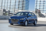 2018 Hyundai Accent Sedan in Admiral Blue - Driving Front Left Three-quarter View