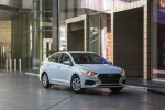 2018 Hyundai Accent Sedan in Frost White Pearl - Static Front Right View