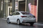 2018 Hyundai Accent Sedan in Frost White Pearl - Static Rear Left View
