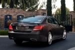 2014 Hyundai Equus Sedan in Night Shadow Brown - Static Rear Right View