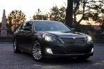 2014 Hyundai Equus Sedan in Night Shadow Brown - Static Front Right View