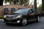 2014 Hyundai Equus Sedan in Night Shadow Brown - Static Front Left Three-quarter View