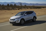 2014 Hyundai Santa Fe Sport in Moonstone Silver - Driving Front Left Three-quarter View