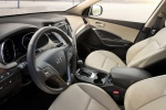 Picture of a 2016 Hyundai Santa Fe's Front Seats in Beige