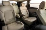 Picture of a 2016 Hyundai Santa Fe's Rear Seats in Beige