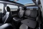 Picture of a 2016 Hyundai Santa Fe's Rear Seats in Black