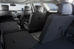Picture of a 2016 Hyundai Santa Fe's Rear Seats Folded in Black