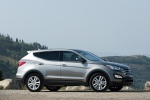Picture of a 2016 Hyundai Santa Fe Sport in Sparkling Silver from a side perspective