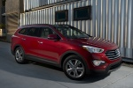 2016 Hyundai Santa Fe in Regal Red Pearl - Static Front Right Three-quarter View