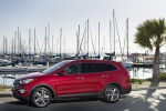 2016 Hyundai Santa Fe in Regal Red Pearl - Static Left Side View