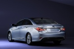 2012 Hyundai Sonata Hybrid in Blue Sky Metallic - Static Rear Left Three-quarter View