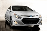 2014 Hyundai Sonata Hybrid in Porcelain White Pearl - Static Front Right View