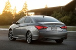 2014 Hyundai Sonata 2.0T Limited in Harbor Gray Metallic - Static Rear Left View