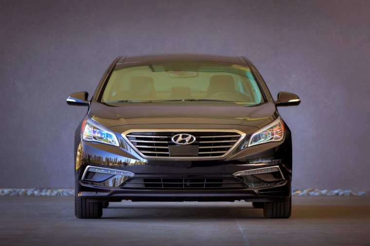 2015 Hyundai Sonata Limited in Dark Truffle from a frontal view