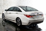 2015 Hyundai Sonata Hybrid Limited in Diamond White Pearl - Static Rear Left Three-quarter View