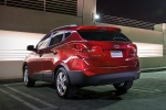 2010 Hyundai Tucson AWD in Garnet Red - Static Rear Left View
