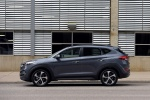 Picture of a 2016 Hyundai Tucson Limited 1.6T in Coliseum Gray from a left side perspective