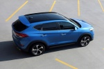 Picture of a 2016 Hyundai Tucson Limited 1.6T AWD in Caribbean Blue from a rear right three-quarter top perspective