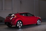 2014 Hyundai Veloster in Boston Red Metallic - Static Rear Right Three-quarter View